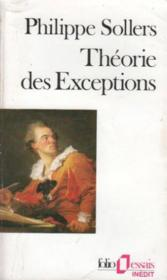 Vente  Théorie des exceptions  - Philippe Sollers