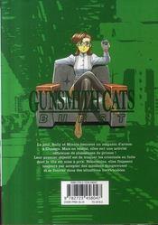 Gunsmith cats burst t.3 - 4ème de couverture - Format classique
