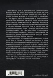 Révolutions à cuba ; de josé marti à fidel castro ; 1868-2006 - 4ème de couverture - Format classique