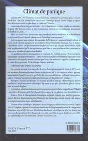 Climat De Panique - 4ème de couverture - Format classique
