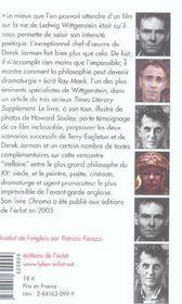 Wittgenstein - Le Film De Derek Jarman - 4ème de couverture - Format classique