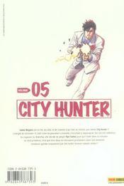 City hunter t.5 - 4ème de couverture - Format classique