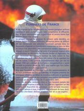 Pompiers De France - 4ème de couverture - Format classique