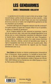 Les gendarmes dans l'imaginaire collectif ; de 1914 à nos jours - 4ème de couverture - Format classique