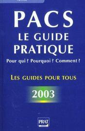 Pacs, Pour Qui, Pour Quoi ? 2003 - Intérieur - Format classique