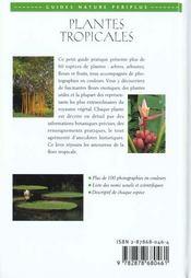 Plantes Tropicales - 4ème de couverture - Format classique