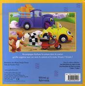 Vroum ! vroum ! ; karbure la voiture - 4ème de couverture - Format classique