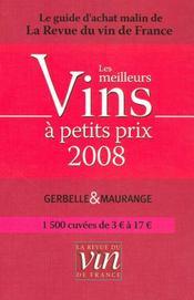 Les Meilleurs Vins A Petits Prix (Edition 2008) - Intérieur - Format classique