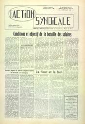 Action Syndicale (L') N°8 du 01/09/1960 - Couverture - Format classique