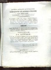 Competition Ad Aggregationem Jussu Regis Optimi. - Couverture - Format classique