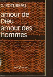 Amour De Dieu Amour Des Hommes - Couverture - Format classique