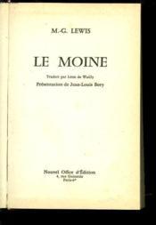Le Moine - Couverture - Format classique