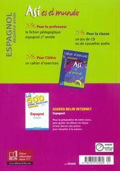 Espagnol ; 3ème ; livre de l'élève (édition 2003) - 4ème de couverture - Format classique