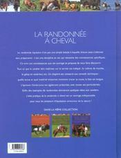 La Randonnee A Cheval - 4ème de couverture - Format classique