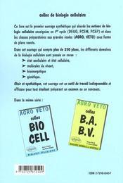 Colles bio cell ; préparation aux concours agro/véto ; biologie cellulaire - 4ème de couverture - Format classique