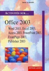 Activités sur office 2003 ; livre de l'élève - Couverture - Format classique