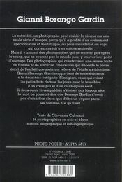 Gianni berengo gardin - 4ème de couverture - Format classique