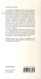 Histoires d'opéras - 4ème de couverture - Format classique
