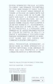 La Messe Noire Du Frere Springer - 4ème de couverture - Format classique