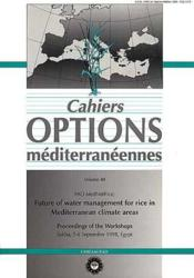 Future of water management for rice in mediterranean climate areas - Couverture - Format classique
