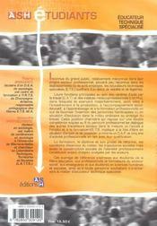 Educateur Technique Specialise - 4ème de couverture - Format classique