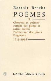 Poemes T.9 - Couverture - Format classique