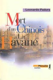 Mort d'un chinois à la Havane - Intérieur - Format classique
