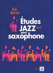 Études jazz pour saxophone t.2 - Intérieur - Format classique