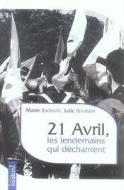 21 avril, les lendemains qui déchantent - Intérieur - Format classique