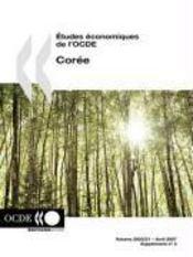 Études économiques de l'OCDE ; corée - Couverture - Format classique
