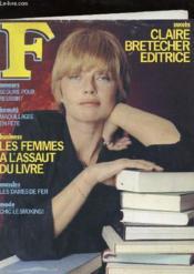 F Magazine - N°8 Nouvelle Serie - Les Femmes A L'Assault Du Livre - Couverture - Format classique