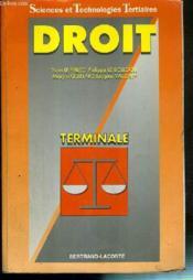 Droit terminale stt-ed 96 - Couverture - Format classique