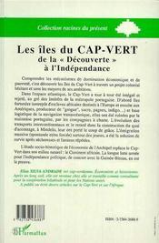 Les Iles Du Cap Vert ; De La Decouverte A L'Independance Nationale - 4ème de couverture - Format classique