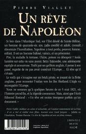 Un reve de napoleon - 4ème de couverture - Format classique
