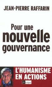 Pour Une Nouvelle Gouvernance - Intérieur - Format classique