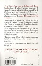 SAS ; la nouvelle cuisine aphrodisiaque - 4ème de couverture - Format classique