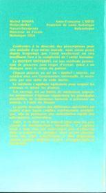 Manuel du nouveau therapeute - 4ème de couverture - Format classique