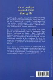 Vie et prodiges du grand amiral zheng he - 4ème de couverture - Format classique