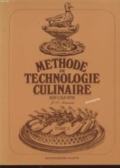 Methode de technologie culinaire t.2 ; livre du professeur - Couverture - Format classique