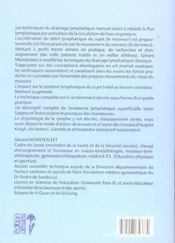 Drainage Et Physiologie Lymphatiques - 4ème de couverture - Format classique