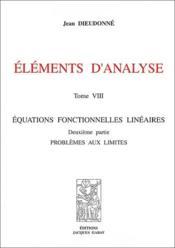 Elements D'Analyse, T. 8 - Couverture - Format classique