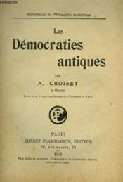 Les Democraties Antiques. - Couverture - Format classique