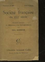 La Societe Francaise Du Xvii° Siecle - Couverture - Format classique
