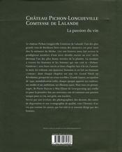 Château pichon-longueville, comtesse de lalande - 4ème de couverture - Format classique