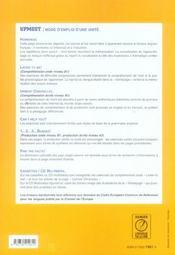 Upmost ; anglais CAP ; manuel de l'élève - 4ème de couverture - Format classique