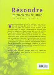 Résoudre les problèmes de jardin ; des réponses d'expert pour tous les jardins - 4ème de couverture - Format classique
