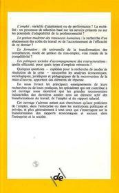 Mutations Industrielles Et Reconversion Des Salaries - 4ème de couverture - Format classique