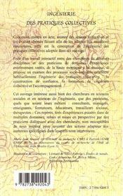 Ingenierie Des Pratiques Collectives ; La Cordee Et Le Quator - 4ème de couverture - Format classique