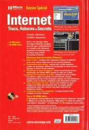 Dossier Special Internet Trucs Et Astuces - 4ème de couverture - Format classique