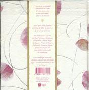 Amour, J'Écris Ton Nom. Une Anthologie Des Plus Beaux Textes Littéraires - 4ème de couverture - Format classique